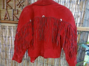 red suede cowboy jacket