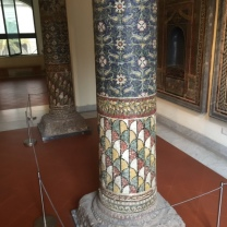 Mosaic column from Pompeii
