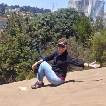 Sandboarding in Concon, Chile