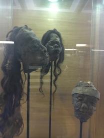 Shrunken heads at Fonck Museum