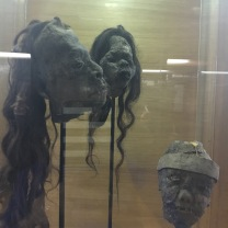 Shrunken heads at Fonck Museum