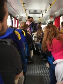 Tour bus ride