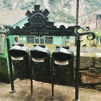 Trash bins in Aguas Calientes