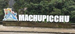 Machu Picchu sign
