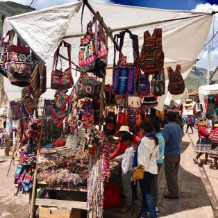 Handicraft market in Peru