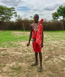 Typical Maasai clothing