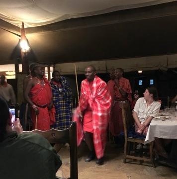 Maasai enertainers
