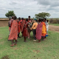 Ladies dance circle