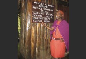Chief greeter at Mara Intrepids Camp