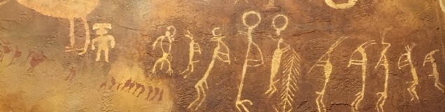 Petroglyphs on canyon wall in Utah