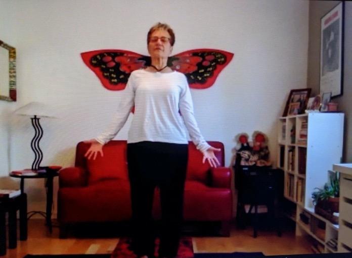 Teaching yoga at home