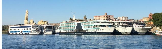 Nile cruise ships in Aswan