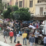 Crowded sidewalks