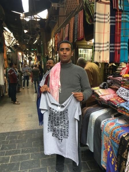 Bazaar vendor in Cairo, Egypt