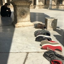 Shoes outside the mosque
